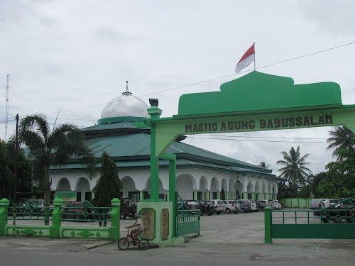 Masjid Agung Babussalam Timika Hitam
